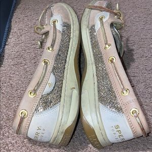 Sperry Women's Gold Sparkly Sperrys